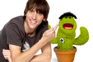 Ed Petrie and a talking cactus
