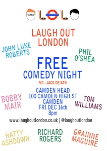 Laugh Out London comedy night December 16