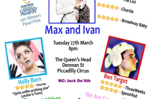 Laugh Out London comedy night in Piccadilly Circus, March 27