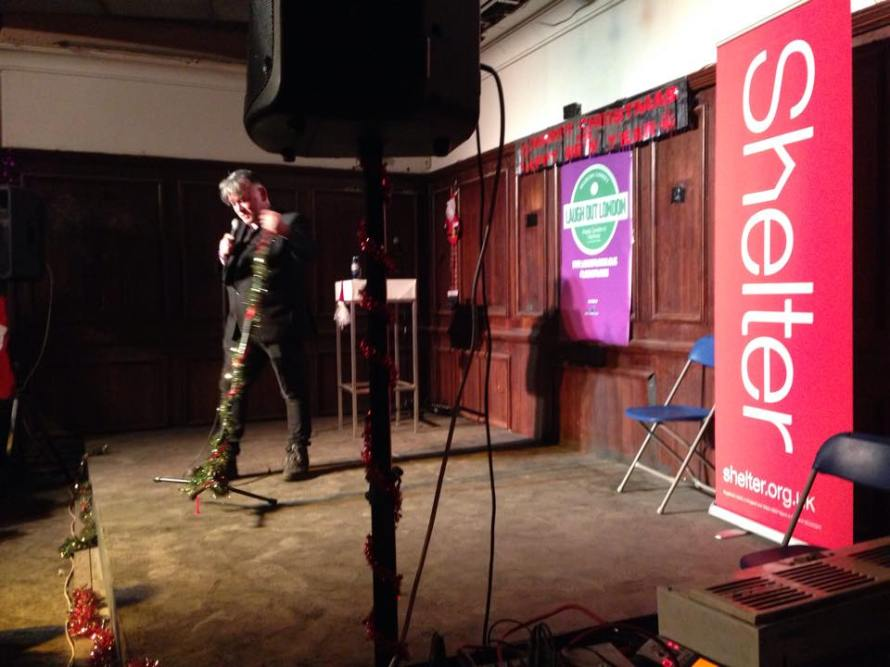 Stewart Lee performing at Laugh Out London's fundraiser for Shelter at Heroes - Grotto of Comedy