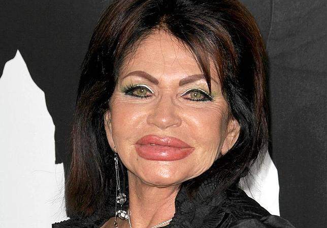 Jackie Stallone's face