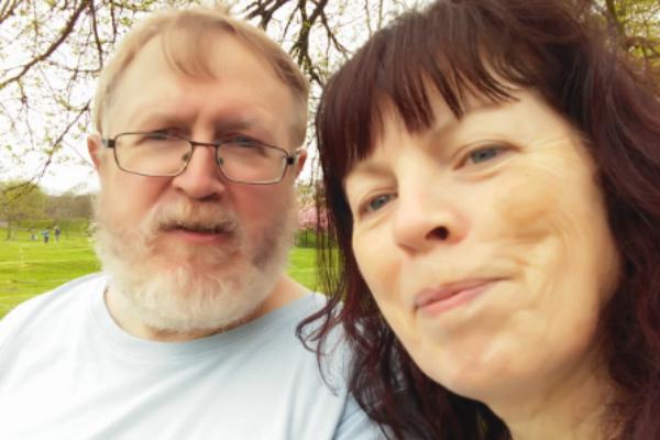 Comedy super fans David & Carole